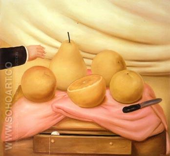 Still Life with Fruits 1978 - Fernando Botero reproduction oil painting