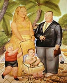 On Paradise Island 1972 - Fernando Botero reproduction oil painting