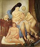 Protestant Family 1969 - Fernando Botero reproduction oil painting