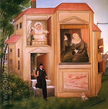 Man Going to Work 1969 - Fernando Botero reproduction oil painting