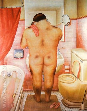 Homage to Bonnard 1973 - Fernando Botero reproduction oil painting
