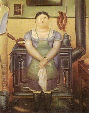 The Maid 1974 - Fernando Botero reproduction oil painting