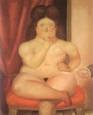 Seated Woman 1976 - Fernando Botero reproduction oil painting
