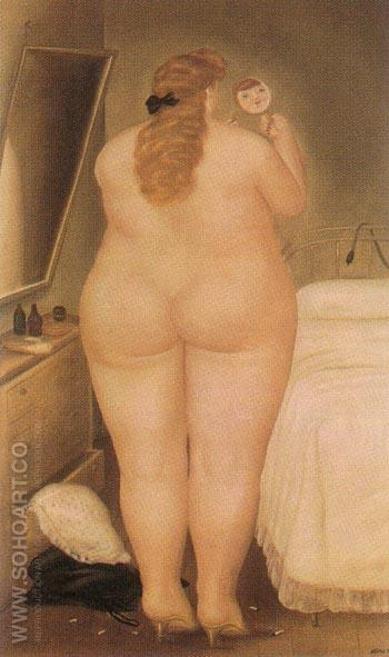 The Morning Toilet 1971 - Fernando Botero reproduction oil painting