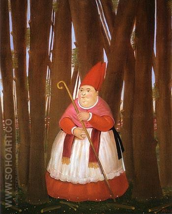 Promenade 1978 - Fernando Botero reproduction oil painting