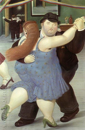 Dance 1987 - Fernando Botero reproduction oil painting