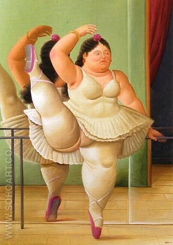 Dance at the Barre - Fernando Botero reproduction oil painting
