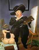 Self Portrait in the Costume of Velazquez 1986 - Fernando Botero reproduction oil painting