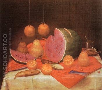 Still Life with Watermelon 1974 - Fernando Botero reproduction oil painting