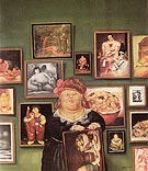 The Collector 1974 - Fernando Botero reproduction oil painting