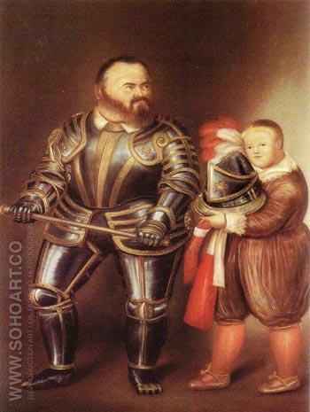 Alof de Vignancourt After Caravaggio 1974 - Fernando Botero reproduction oil painting