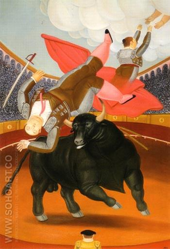 The Death of Luis Chaleta 1984 - Fernando Botero reproduction oil painting