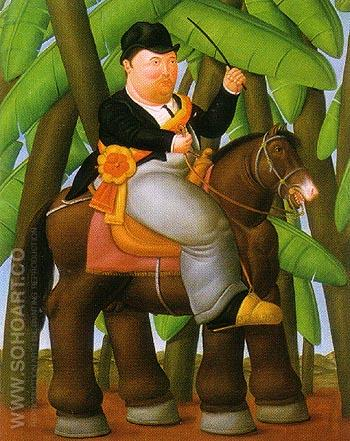 The President - Fernando Botero reproduction oil painting