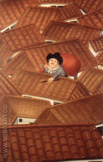 The Thief 1980 - Fernando Botero reproduction oil painting