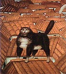 Cat on the Roof 1978 - Fernando Botero reproduction oil painting