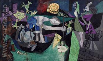 Night Fishing at Antibes 1939 - Pablo Picasso reproduction oil painting