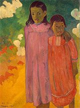 Piti Teina Two Sisters 1892 - Paul Gauguin reproduction oil painting