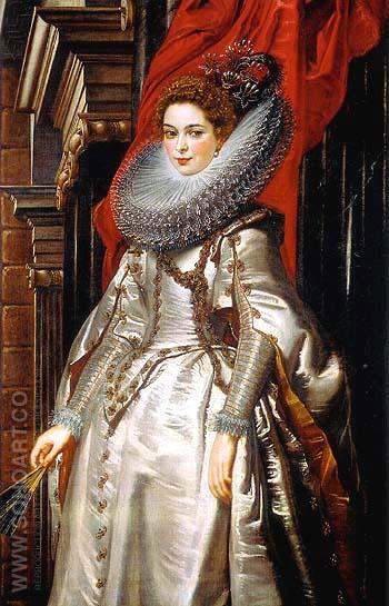 Portrait of the Marchesa Brigida Spinola Doria 1606 - Ruebens reproduction oil painting