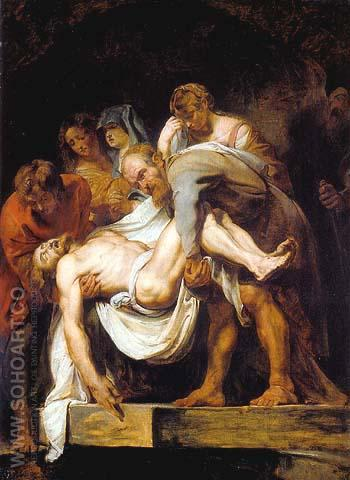 The Entombment 1611 - Ruebens reproduction oil painting