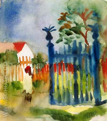 Garden Gate Gartentor - August Macke reproduction oil painting