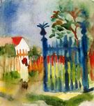 Garden Gate Gartentor - August Macke