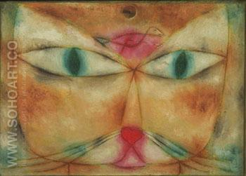 Cat and Bird 1928 - Paul Klee reproduction oil painting