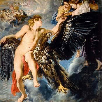 The Abduction of Ganymede 1611 - Ruebens reproduction oil painting