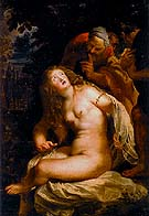 Susanna and the Elders 1607 - Ruebens reproduction oil painting