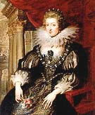 Portrait of Anne of Austria 1621 - Ruebens reproduction oil painting