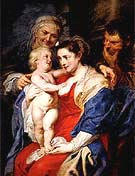 The Holy Family with St Anne 1630 - Ruebens reproduction oil painting