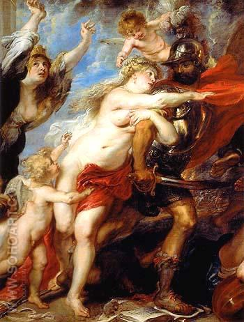 The Horrors of War detail 1637 - Peter Paul Rubens reproduction oil painting
