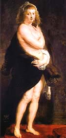 Helena Fourment in a Fur Wrap Het Pelsken 1638 - Ruebens reproduction oil painting