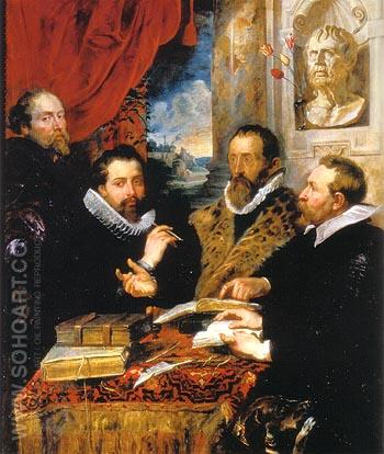 The Four Philosophers Justus Lipsius and his Pupils 1611 - Peter Paul Rubens reproduction oil painting