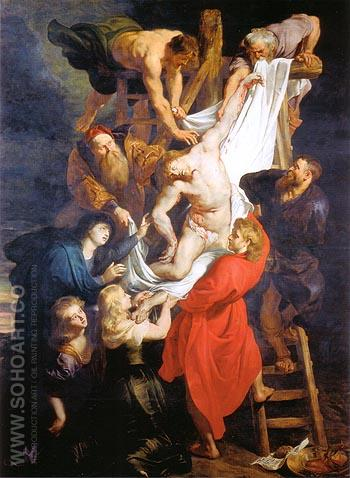 The Descent from the Cross 1611 - Ruebens reproduction oil painting