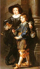 Albert and Nicolaas Rubens 1626 - Ruebens reproduction oil painting
