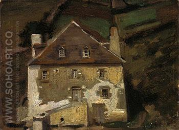 A Breton Homestead 1903 - Alson Skinner Clark reproduction oil painting