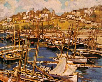The Forest of Masts Genoa 1904 - Alson Skinner Clark reproduction oil painting