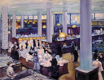 Carson Pirie Scott Department Store 1905 - Alson Skinner Clark reproduction oil painting