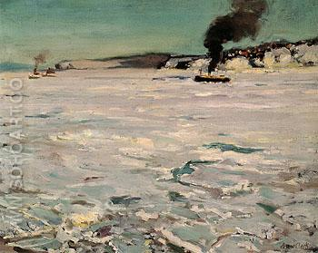 Winter Canada 1906 - Alson Skinner Clark reproduction oil painting