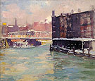State Street Bridge Along the Chicago River 1906 - Alson Skinner Clark