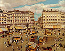 Plaza of the Puerta Del sol 1909 - Alson Skinner Clark reproduction oil painting