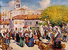 Bazaar Spalato 1912 - Alson Skinner Clark reproduction oil painting