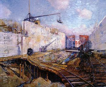 In the Lock 1913 - Alson Skinner Clark reproduction oil painting