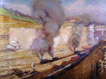 In the Lock Miraflores 1914 - Alson Skinner Clark reproduction oil painting