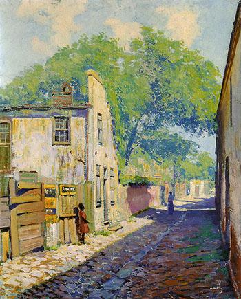 Charleston Houses St Michael s Alley 1917 - Alson Skinner Clark reproduction oil painting