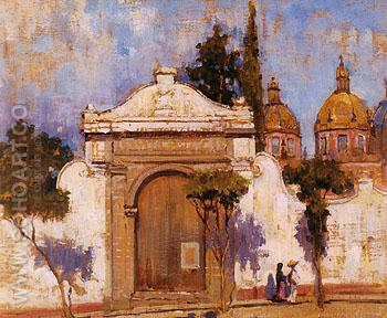 Carman Gate san Angel No 2 1923 - Alson Skinner Clark reproduction oil painting