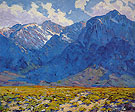 Mount Baxter from Owens Valley 1925 - Alson Skinner Clark reproduction oil painting