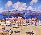 The Arrival of the Oregon at San Francisco 1925-26 - Alson Skinner Clark reproduction oil painting