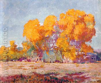 Ranch in Sycamores 1928 - Alson Skinner Clark reproduction oil painting