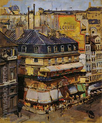 Rooftops Paris 1936 - Alson Skinner Clark reproduction oil painting